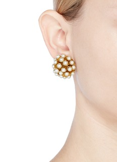 Rosantica 'Futura' faux pearl stud clip earrings