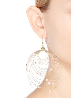 Rosantica 'Orbita' faux pearl concentric hoop earrings