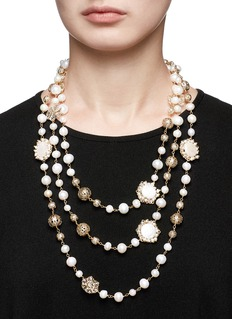 Rosantica 'Corte' faux pearl beaded necklace