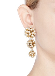 Rosantica 'Futura' faux pearl link drop clip earrings