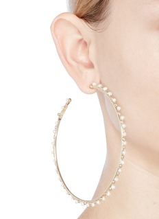 Rosantica 'Angola' faux pearl large hoop earrings