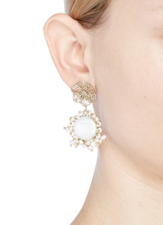 Rosantica 'Corte' filgree stud faux pearl drop earrings