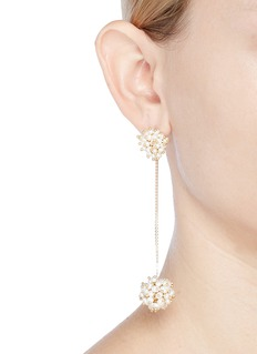 Rosantica 'Suono' faux pearl cluster drop earrings