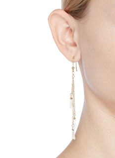 Rosantica 'Allegria' faux pearl mismatched tassel drop earrings