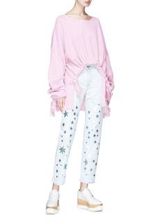 Stella McCartney Star foil print boyfriend jeans