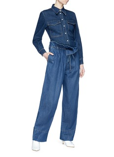 Stella McCartney 'Oliva' paperbag waist wide leg jeans