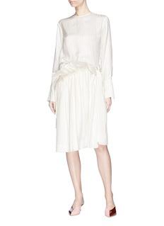 STELLA MCCARTNEY 仿包裹式条纹真丝半身裙