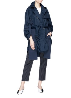 Stella McCartney Belted sash panel double breasted trench coat