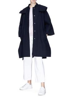 Stella McCartney Hooded wool twill cape jacket