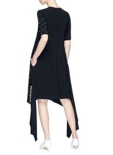 STELLA MCCARTNEY 垂坠布饰人造珍珠连衣裙