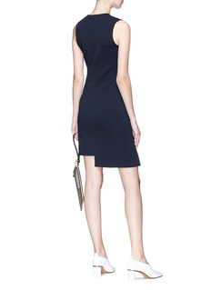 Stella McCartney Asymmetric slit hem ponte knit dress