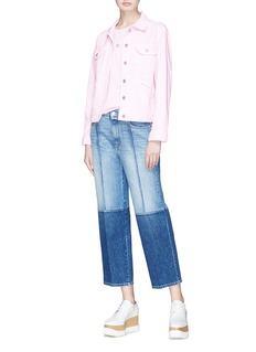 Stella McCartney Two-tone cropped straight leg jeans