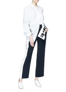 Stella McCartney Colourblock panel cady pants