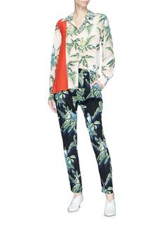 Stella McCartney Birds of paradise print silk crepe pants