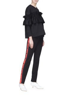 Stella McCartney Satin ruffle trim sweater