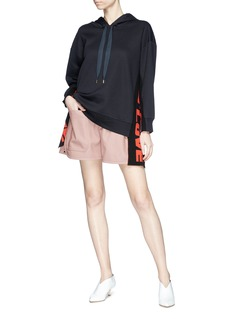 Stella McCartney Patch pocket faux leather shorts