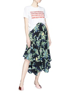 Stella McCartney Strass slogan print layered T-shirt