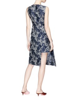 Stella McCartney Graphic embroidered floral print asymmetric dress