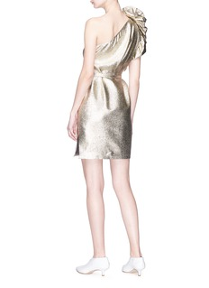 Stella McCartney 'Polly' ruffle one-shoulder lamé mini dress