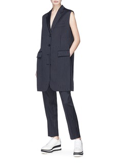 Stella McCartney 'Sadi' pinstripe long gilet