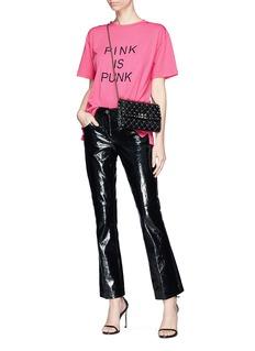 VALENTINO PINK IS PUNK标语纯棉T恤