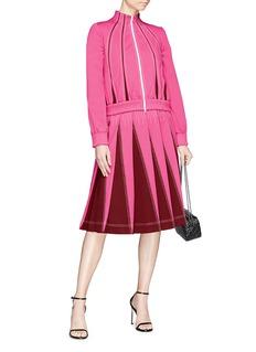 VALENTINO 车缝线点缀百褶半身裙