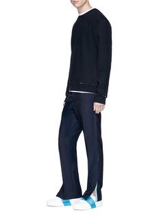 Valentino 'Rockstud Untitled 08 Noir' cotton blend sweatshirt