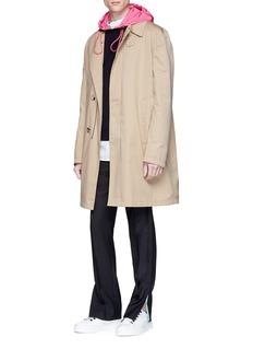 Valentino Contrast hood virgin wool hoodie