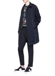Valentino Detachable lining twill panel coat