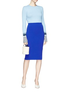 Victoria Beckham Zip back pencil skirt