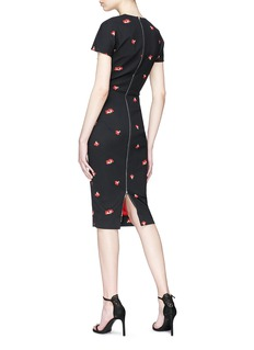 Victoria Beckham Poppy floral jacquard dress