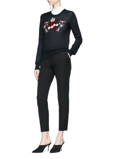 Dolce & Gabbana Crown heart embellished cashmere sweater