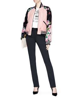 Dolce & Gabbana Floral print stripe reversible bomber jacket