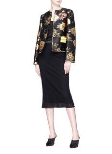 Dolce & Gabbana Heart appliqué floral jacquard jacket