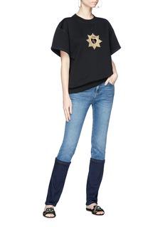 Dolce & Gabbana Crown heart bullion patch sweatshirt