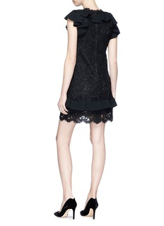 Dolce & Gabbana Heart appliqué floral corded lace dress