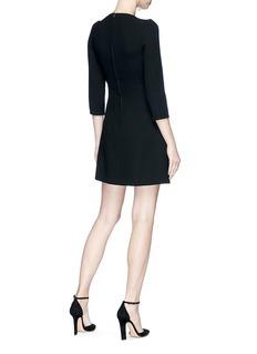 Dolce & Gabbana Heart bullion patch suiting dress