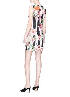 Dolce & Gabbana Floral print stripe brocade mini dress
