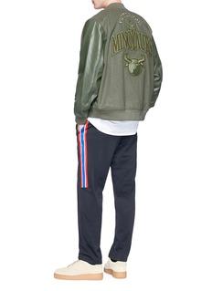 NikeLab x Riccardo Tisci chenille patch padded bomber jacket