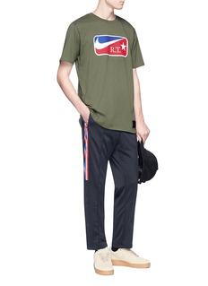 NikeLab x Riccardo Tisci embossed logo print T-shirt
