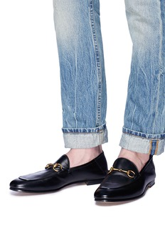 Gucci Horsebit leather step-in loafers