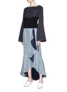 Tibi Lace up knit corset