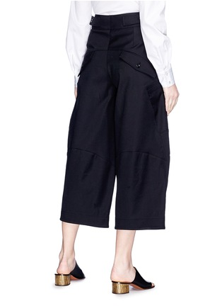 Back View - Click To Enlarge - Chloé - Twill cargo culottes