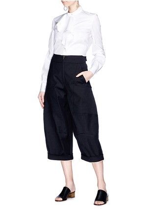 Figure View - Click To Enlarge - Chloé - Twill cargo culottes