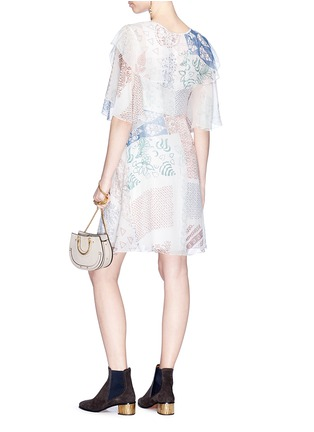 Figure View - Click To Enlarge - Chloé - Graphic print silk georgette dress