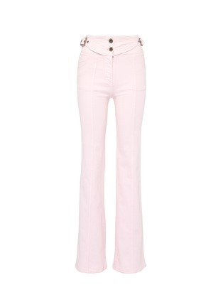 Main View - Click To Enlarge - Chloé - Buckled side flared jeans