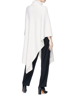 Chloé Asymmetric hem cashmere knit turtleneck cape