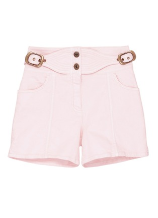 Main View - Click To Enlarge - Chloé - Buckled side denim shorts