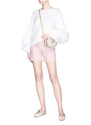Figure View - Click To Enlarge - Chloé - Buckled side denim shorts