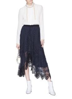 Chloé Beaded cotton-silk crépon blouse